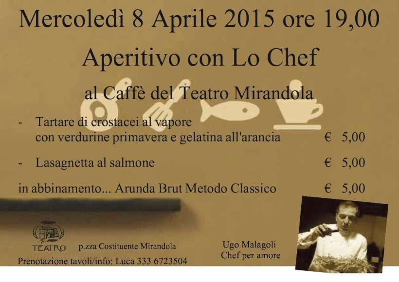 Aperitivo con lo Chef 8 Aprile